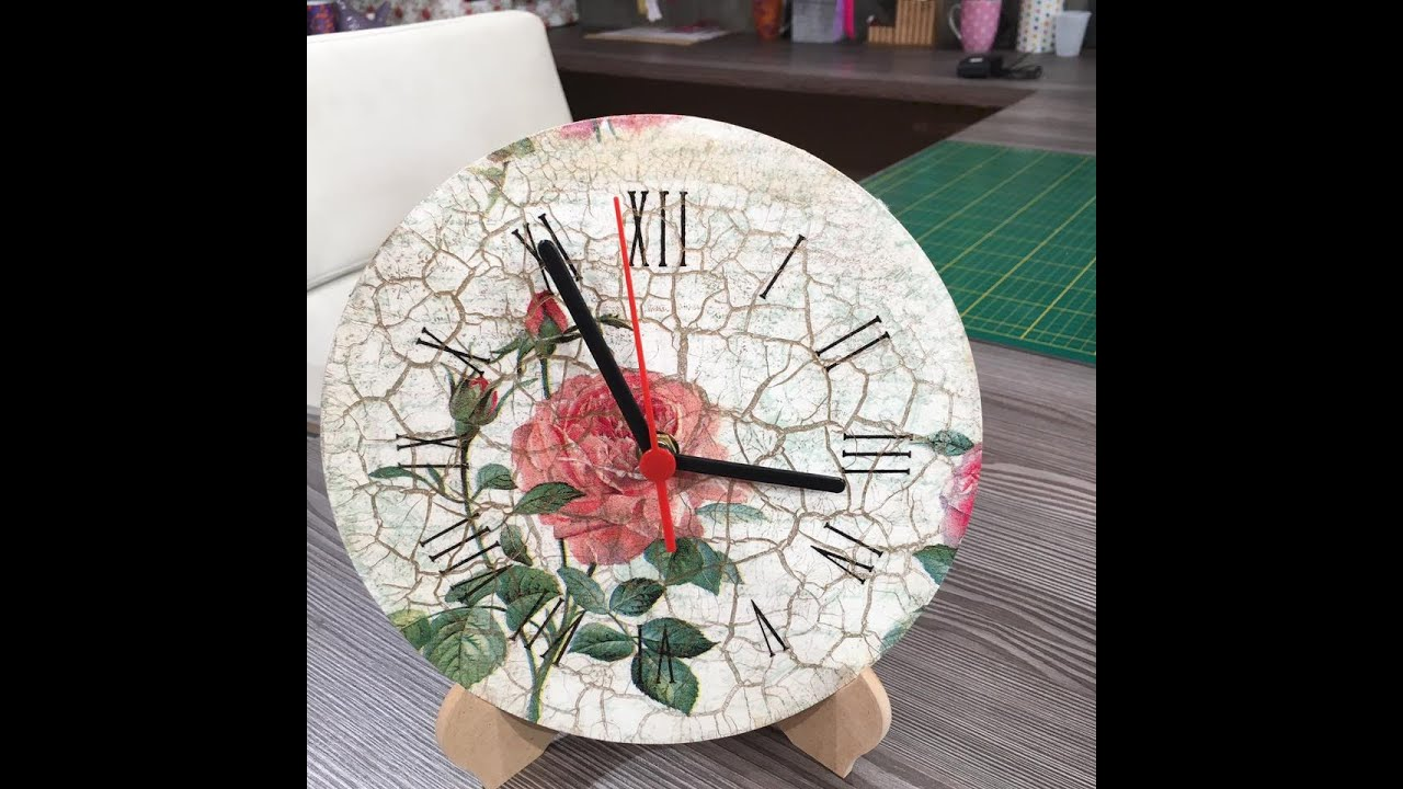 Reloj de pared con decoupage 10 05 16 youtube - Relojes para decorar paredes ...
