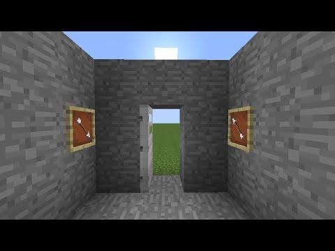 Minecraft Tutorial - Item Frame Combination Door Lock - YouTube