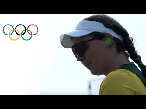 Catherine Skinner gets gold in Women's Trap Shooting