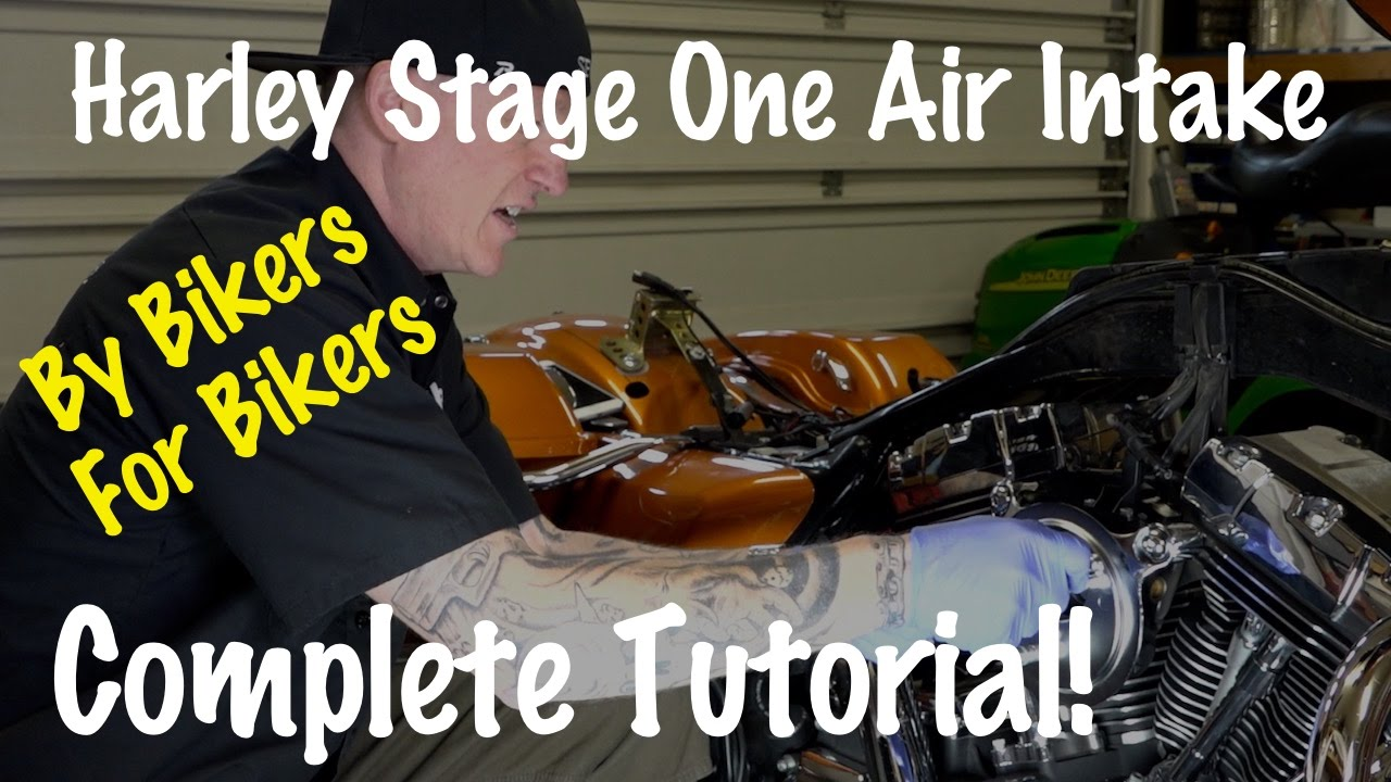 Install Stage One Air Intake Kit on Harley Davidson Motorcycle | Biker  Motorcycle Podcast