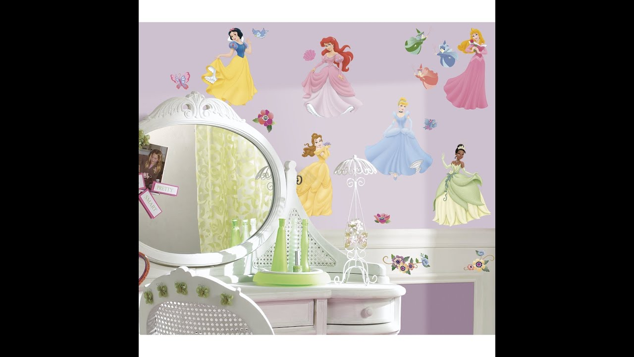 Review: Roommates Rmk1470Scs Disney Princess Peel U0026 Stick Wall Decals With  Gems