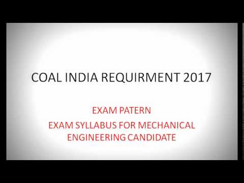 Coal India Management Trainee Syllabus | COAL INDIA 2017 VACANCY