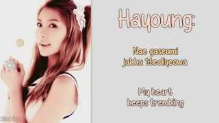 Repeat youtube video A Pink - U You [English Lyrics, Member Coded + Romanisation] HD