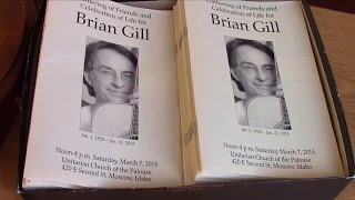 Brian Gill tribute, March 7, 2015, Moscow, Idaho