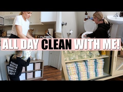 ALL DAY ULTIMATE CLEAN WITH ME 2018 | CLEANING MOTIVATION | Tara Henderson