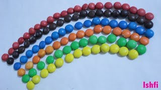 Making Rainbow with M&M from  Ishfi
