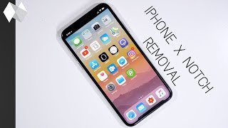 Iphone X Notch Removal Tutorial