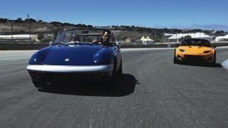 1967 Lotus Elan and Mazda MX-5 Super 20 Concept - CAR and DRIVER