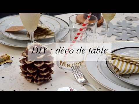Diy id es d co de table nouvel an no l f tes soir e - Idee deco table de noel a faire soi meme ...