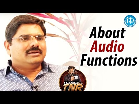 Madhura Sreedhar About Audio Functions || Frankly With TNR || Talking Movie With iDream