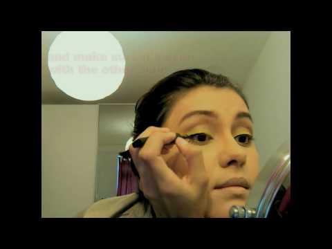 Lady Gaga feat. Beyonce Telephone Makeup Look - yellow look