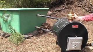 HOW to BUILD a JACUZZI HOT TUB wood fired SUNLINE POOL HEATER