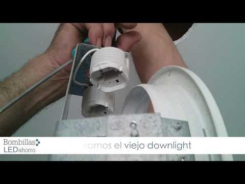 Cómo colocar un downlight led en el techo   youtube