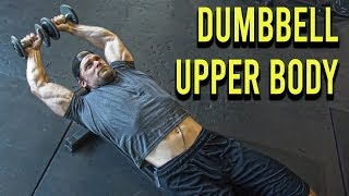 Chest/Back/Arms/Shoulders DUMBBELL ONLY WORKOUT (at home or gym)   Dumbbell Workout Plan P3D4