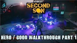 Infamous: Second Son - hero / good walkthrough part 1 - 1080p 60fps - No commentary