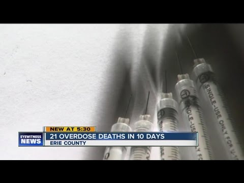 21 Drug overdose deaths within 10 days in Erie County