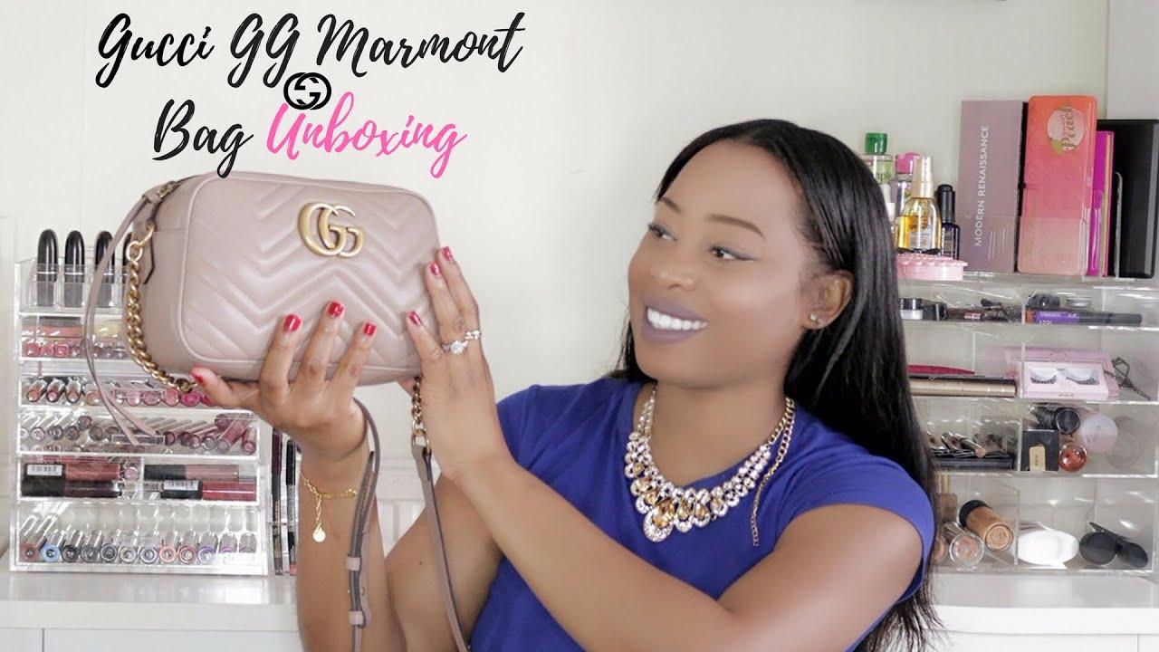 2884737b3ec2 Gucci GG Marmont Matelessé Shoulder Bag Unboxing | ParisRenae - YouTube