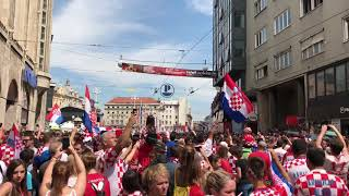 Waiting for a Croatian football team in Zagreb after World Cup final, 16.07.2018., Part 2