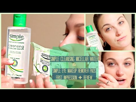 Simple Cleansing Micellar Water + Eye Makeup Remover Pads First Impression