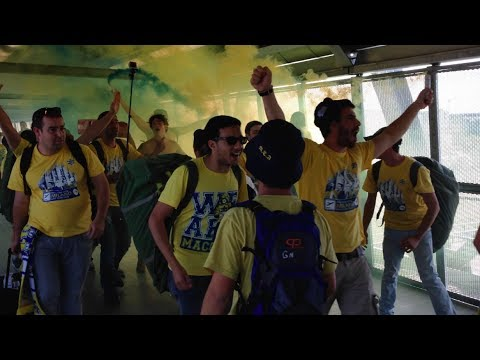 Maccabi Tel Aviv supporters in Milan