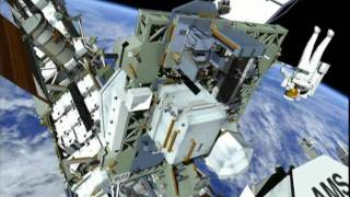 STS-135: EVA-1 (time lapse) [with overview]