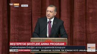 Cumhurbaşkanı Erdoğan'ın Konuşması - Beştepe'de Şehitleri Anma Programı - TRT Avaz