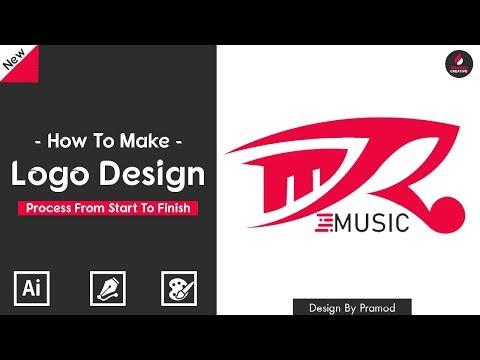 illustrator Tutorial : How to Create a Logo | The Logo Design Process From Start To Finish.