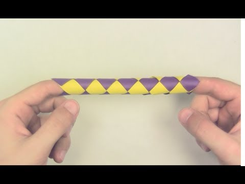 How To Make A Chinese Finger Trap Out Of Paper Yakomoga Origami