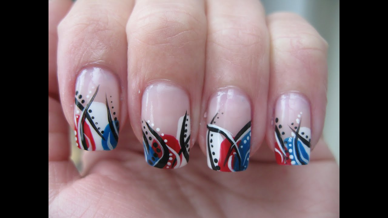 Nail art: 4th of July design