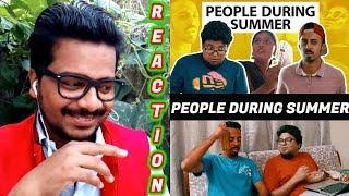 Things People Do During Summer Reaction Video   Jordindian   Vineeth,Naser   #Oyepk