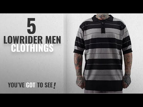 Top 10 Lowrider Men Clothings [ Winter 2018 ]: Lowrider Charlie Brown Shirt Black/Grey Size XL