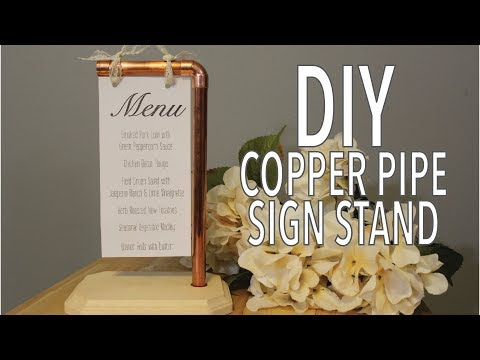 DIY Copper Pipe Sign Stand   Industrial Wedding Sign