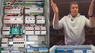 Стандарт трехфазного электрощита для квартиры. Из чего состоит электрощит. Компоненты электрощита