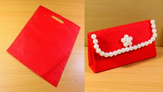 How to Make Purse from Cloth Bag   DIY Cloth Bag Purse - Very Simple