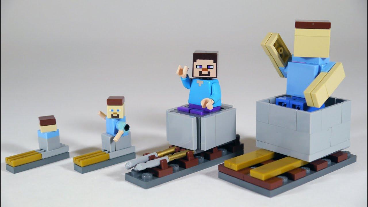 How To Build LEGO Minecraft Minecart & Rails
