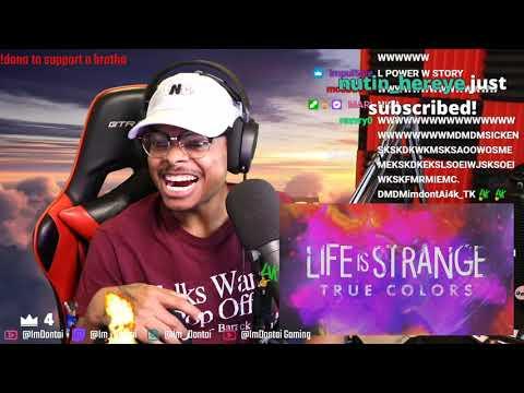 ImDontai Reacts To Life Is Strange Game Trailer |