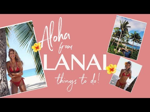 ❤️🏝 LANAI! Things To Do On The Hawaiian Island! TRAVEL VLOG