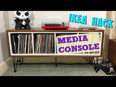 DIY IKEA HACK How to make a Mid-Century MEDIA CONSOLE with only 2 Power Tools!