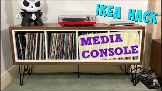 Diy Ikea Hack How To Make A Mid Century Media Console With Only 2 Power Tools!