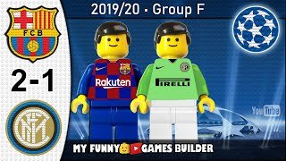 Barcelona vs Inter 2-1 • Champions League (02/10/2019) All Goals Highlights LEGO Football