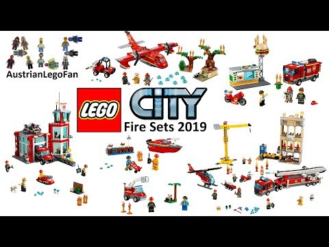 Lego City Fire Sets 2019 Compilation of all Sets - Lego Speed Build Review