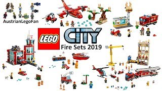 All Lego City Fire Sets 2019 - Compilation - Lego Speed Build Review