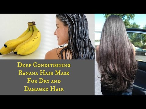 DIY: Deep Conditioning Banana Hair Mask | For Dry & Damaged Hair