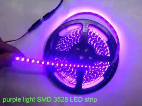 Purple light flexible smd 3528 led strip4 youtube purple light flexible smd 3528 led strip4 aloadofball Image collections