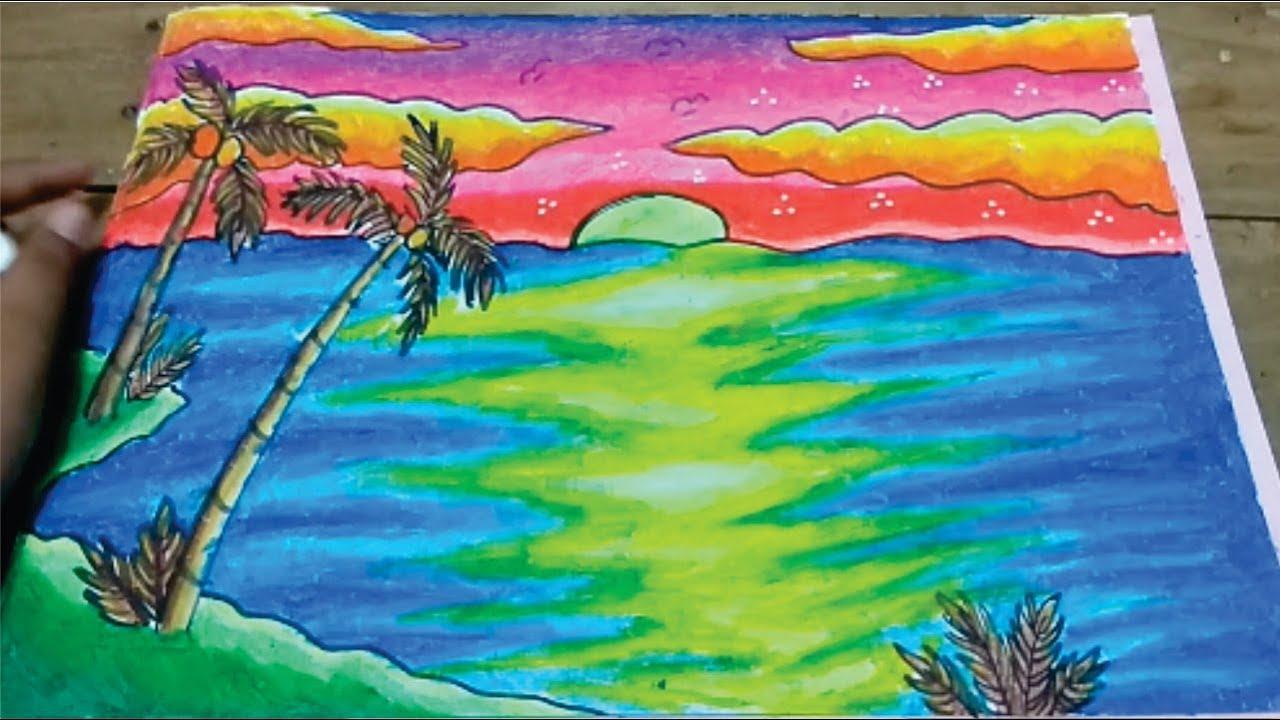 680+ gambar gradasi pemandangan pantai HD