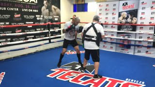 Miguel Cotto media workout live at The Wild Card