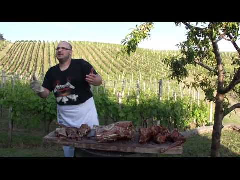 How to butcher a roasted lamb