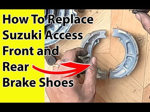 How To Replace Suzuki Access Front and Rear Brake Shoes of drum brake Detailed Video(Hindi)