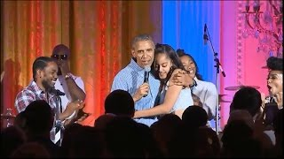 President Obama marks July 4th, sings Happy Birthday to daughter Malia