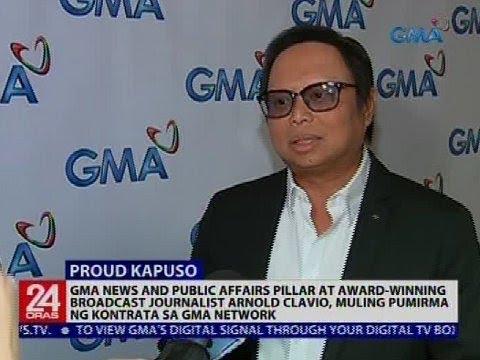 24 Oras: Arnold Clavio, muling pumirma ng kontrata sa GMA Network